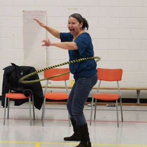 Circus arts workshopping with the community and Eric the Juggler!